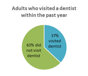 Adults who visited a dentist within the past year