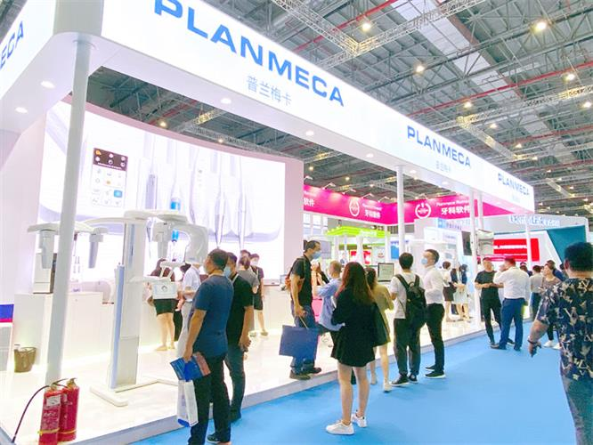 Planmeca area at the dental show